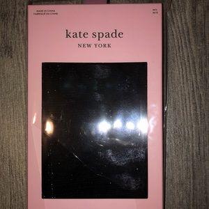 Kate Spade black metallic shimmer tights